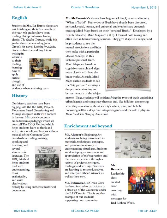 Quarter 1 Newsletter_2015_2